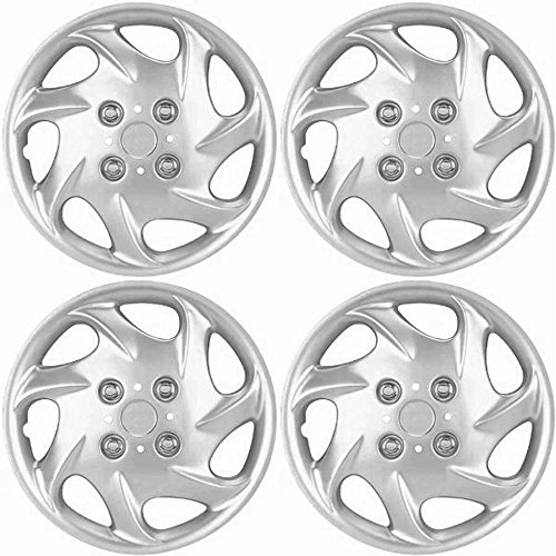 OxGord Hubcaps for Nissan Altima 1998-1999 Set of 4 Pack 15