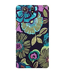 Floral Pattern Back Case Cover for Sony Xperia C5 Ultra Dual::Sony Xperia C5 E5553 E5506::Sony Xperia C5 Ultra