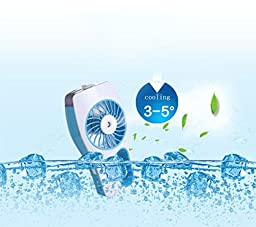 USB Fans Portable Handheld Mini Misting Fan with Personal Cooling Mist Humidifier Rechargeable Battery Misty Cooling Hydrating Misting Humidifier Fan for Hot Summer Outdoor Travelling/ Home/Office/Car