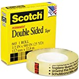 Scotch Double Sided Tape, 12.7mm x 22.8m, 1 Roll, (655-C)