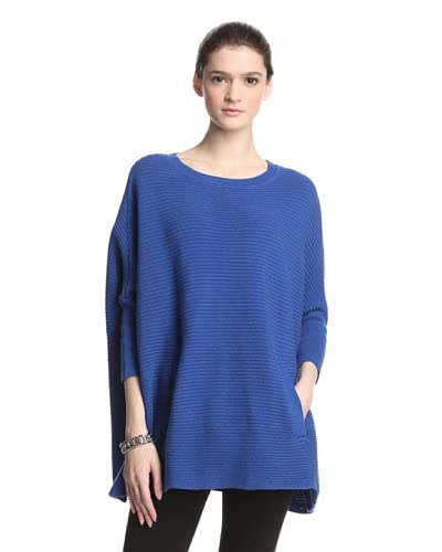 Cullen Women's Shaker Stitch Blanket Sweater  [Marine]