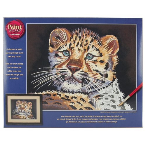 Dimensions Needlecrafts Paintworks Paint By Number, Leopard Cub