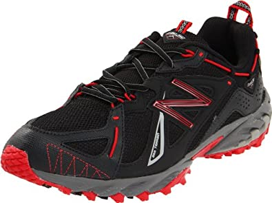 New Balance Men's MT610 Trail Running Shoe,Black/Red,7 2E US