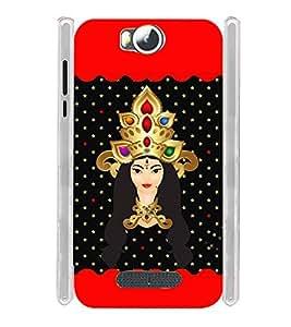 Lord Santoshi Mata Soft Silicon Rubberized Back Case Cover for Micromax Canvas Spark 3 Q385