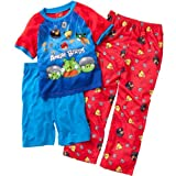 AME Sleepwear Boys 2-7 Angry Birds Really Angry 3 Piece Pajama Set