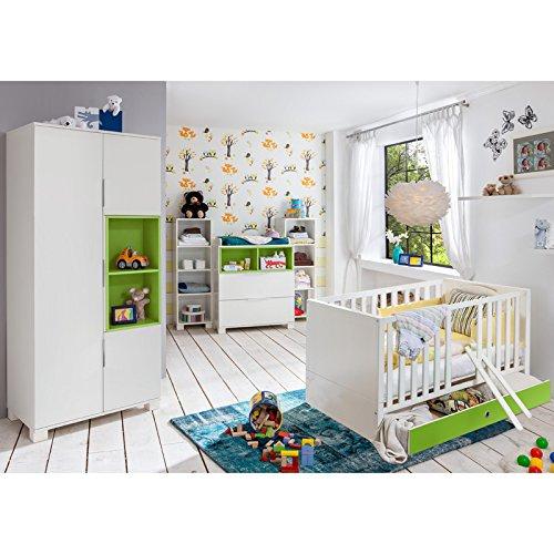 Babyzimmer Set »RISONU166« alpinweiß, grün günstig