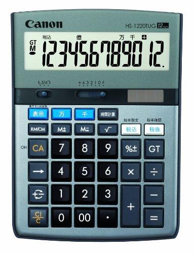 Canon 電卓 HS-1220TUG SOB 12桁 グリーン購入法適合 千万単位表示 時間計算付 税計算可 卓上タイプ