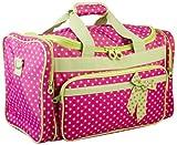 Fuchsia & Lime Green Polka Dot Duffel Bag~ great for travel or dance