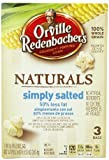 Orville Redenbacher's Gourmet Microwavable Popcorn, Natural Simply Salted 50% Less Fat, 3-Count Boxes 8.55 Oz (Pack of 12) Reviews
