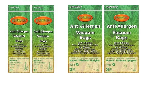 6 DVC Hoover Type Q HEPA Cloth Style UH10000 + 6 Hoover Stype I HEPA Cloth Allergen Platinum UH30010COM Vacuum Bag Bundle - Generic Aftermarket Bags (Hoover Vacuum Uh30010com compare prices)
