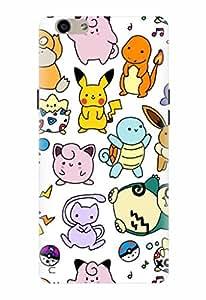 Noise Designer Printed Case / Cover for Oppo F1s / Animated Cartoons / Pokemon Doodles Design