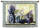 Ladies Mantle Flowers Vases Wall Hanging Tapestry 40 x 54 by Simply Home
