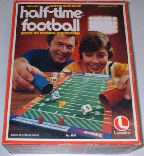 Vintage Half-Time Football Sports Dice Game by Lakeside günstig kaufen