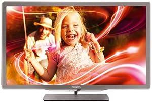 Philips 42PFL7406K/02 107 cm (42 Zoll) Ambilight LED-Backlight-Fernseher  (Full-HD, 400 Hz PMR, DVB-T/-C/-S2, Smart TV) silbergrau