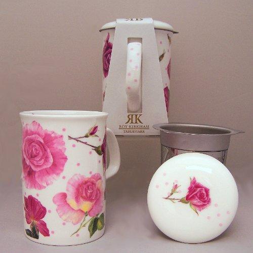 Roy Kirkham Rose Du Temps Infuser Mug & Lid-Dot