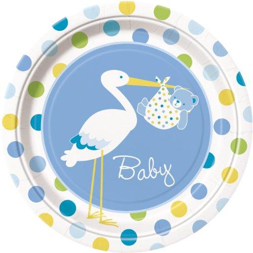 Uk Baby Shower Co Pappteller für Babyparty, für einen Jungen, Blau