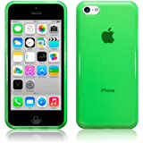 (Accessories) The Keep Talking Shop® Transparent Green iPhone 5c Case Cover TPU Silicone Skin Gloss Jelly(Green Translucent)