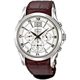 Men's Premier Stainless Steel Chronograph Silver Tone Dial