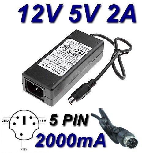 Netzadapter Ladegerät 12V 5V 2A 5Kiefer für da-30C01WD Elements WD5000E035–00HDD