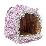 (ペットホーム)Pet Home 小さなペットの綿ハンモックおもちゃ   トトロとウサギとハムスターとリスとミンクとモルモットなど 暖かい巣 (L)