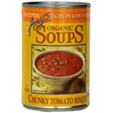 Amy's Organic Light In Sodium, Chunky Tomato Bisque, 14.5-Ounce Cans (Pack of 12) ~ Amy's Organic