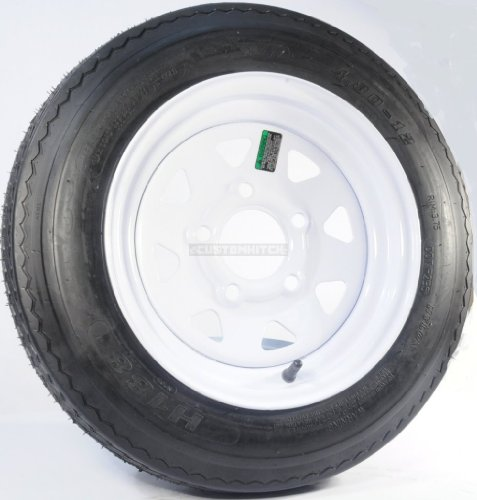 eCustomrim 09C Trailer Tire + Rim 4.80-12 480-12 4.80X12 12