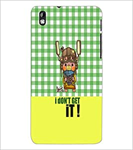 PrintDhaba Quote D-3642 Back Case Cover for HTC DESIRE 816 (Multi-Coloured)
