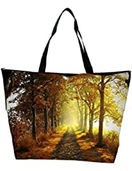 Snoogg Alone Path In Forest Designer Waterproof Bag Made Of High Strength Nylon