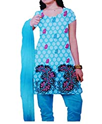 Khushika Women's Cotton Unstitched Dress Material (GG1058 _Multicolour_Free Size)