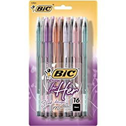 Funny product BIC Cristal For Her Ball Pen, 1.0mm, Black, 16ct (MSLP16-Blk)
