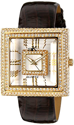 Adee Kaye Women's AK25-LG Analog Display Japanese Quartz Champagne Watch