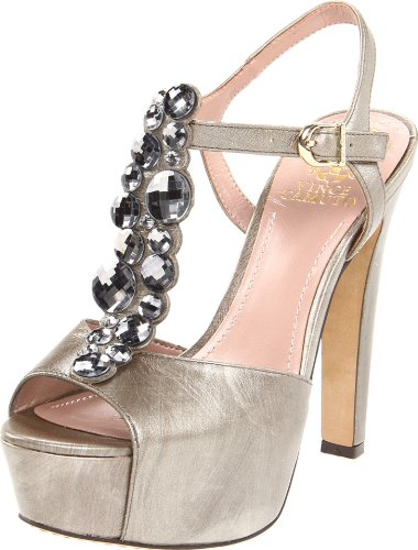 Vince Camuto Women's Shellys Sandal,Metal Taupe,7 M US