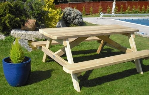 Classic Picnic Bench 4&#039; 120 cm &amp; parasol hole