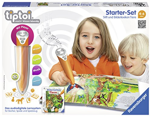 Ravensburger 00508 - tiptoi Starter-Set mit Stift und Buch Bilderlexikon Tiere