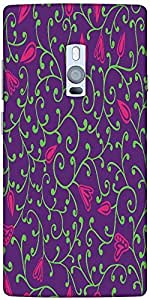 Snoogg Seamless Pattern With Leaf Designer Protective Back Case Cover For One...