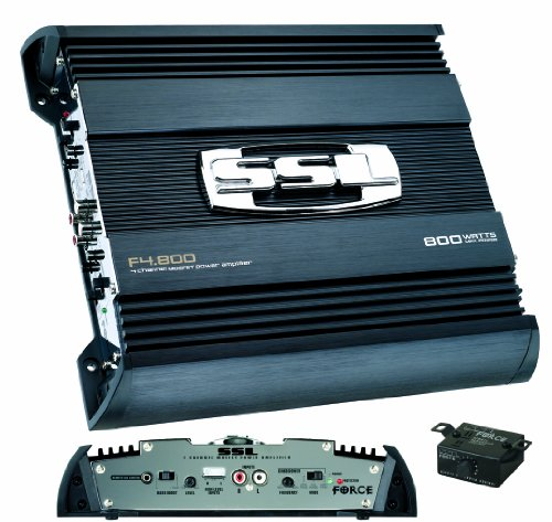 SSL F4.800 FORCE 800W, 4 Channel MOSFET Amplifier with Remote Subwoofer Level Control