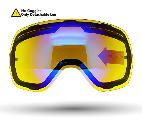 Picador Dual Layer Anti-Fog Lens for Ski & Snowboard Goggles (Yellowish Blue)