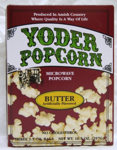 Microwave Butter Popcorn (Yoder'S) - Three 3.5 Oz Bags