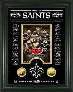 Highland Mint New Orleans Saints Super Bowl XLIV Champions Signature Etched Glass... by Hightland Mint