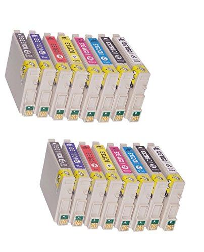 【IC33 EPSON互換インク】8色セット(IC8CL33)×2パック(計16個入り)【ICチップ付】