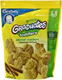 Baby / Child Gerber Graduates Cookies, Cinnamon Graham Animal Crackers For Toddlers - 6-Ounce Pouches (Pack Of 6) Infant