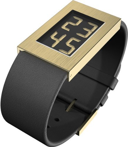 "Rosendahl Watch Black Dial, 8 Micron Gold Plated Case, Calf Skin Strap (1.3"" Dia.)"