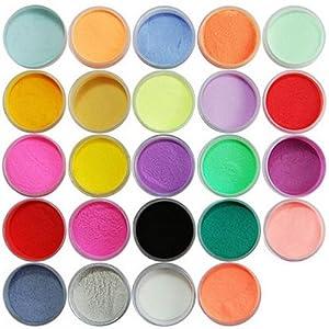 Amazon.com: 24 Color Acrylic Powder Dust Nail Art Decoration: Beauty