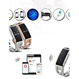 Smart Wrist Watch Stainless Sports Bluetooth Whatch Band With Sleep Monitor Pedometer Reminder Anti-Lost For Phone , silver (Color: silver)