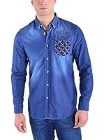Galvanni Camisa Vaquera Slater (Azul)