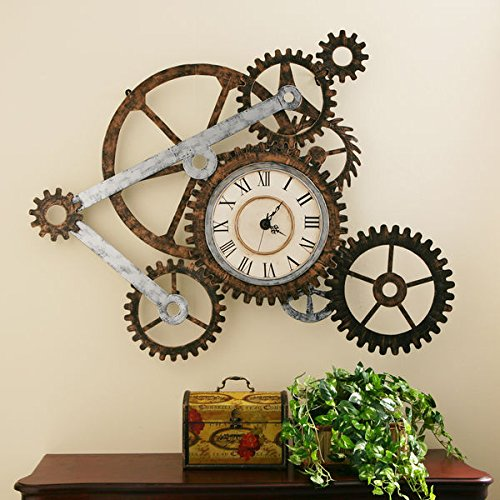 Harper Blvd Clock and Gears Wall Art (Hands Free Gear Clock compare prices)