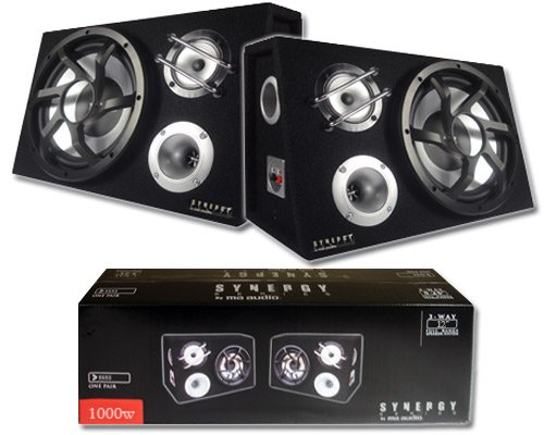"Audio Synergy Series SS123 1000 Watt 12"" 3-Way Car Speaker System New"