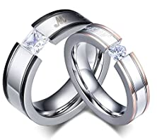 buy Anazoz Jewelry Stainless Steel Ring Round Shape (Engrave:My Love) 5Mm Set One Love Cz Us Size 5 Female