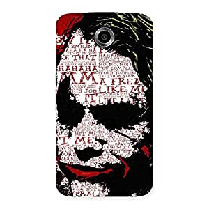Stylish Mad Typo Multicolor Back Case Cover for Nexsus 6