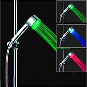 Neewer Temperature 3 Color Changing LED Shower Head Lights Water RGB